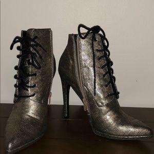 Tie-Up Heel Boots